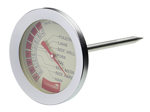 MasterClass Meat Thermometer, Stainless Steel, Silver