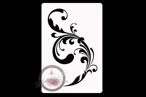 Flower Nr. 3 Ranke Profi Airbrush Schablone - Stencil für Tattoo Bodypaint