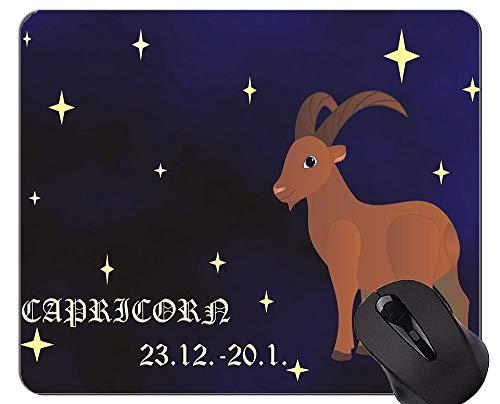 Gaming Mouse Pad, Steinbock Sternzeichen Horoskop Themen der rutschfesten Gummibasis Mousepad