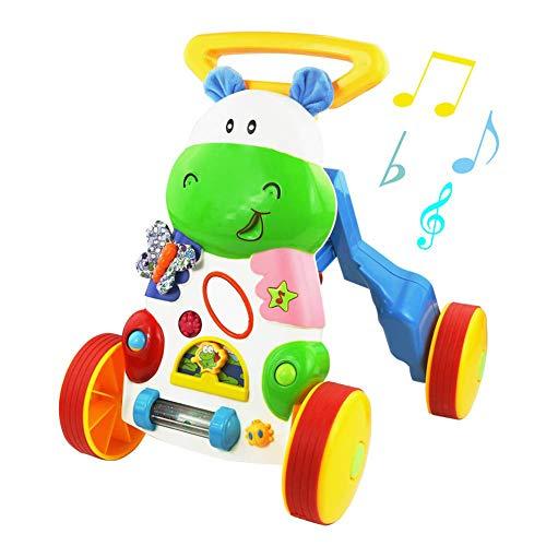 CXD Lauflernwagen Für Babys, Mit Musik Gehhilfe Baby Vielseitigem Geschenk Mädchen Jungen Ab 12 Monaten Ist Der Perfekte Begleiter Für Alle Wachsenden Kinder,1