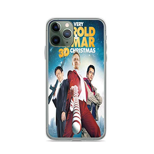 NHUXAYH Kompatibel mit iPhone 12/12 Pro Max 12 Mini 11 Pro Max SE X/XS Max XR 8 7 6 6s Plus Hülle A Very Harold Kumar 3D Christmas TPU Pure Clear Handyhülle