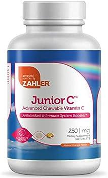 180-Count Zahler Junior C Chewable Vitamin C Orange Tablets