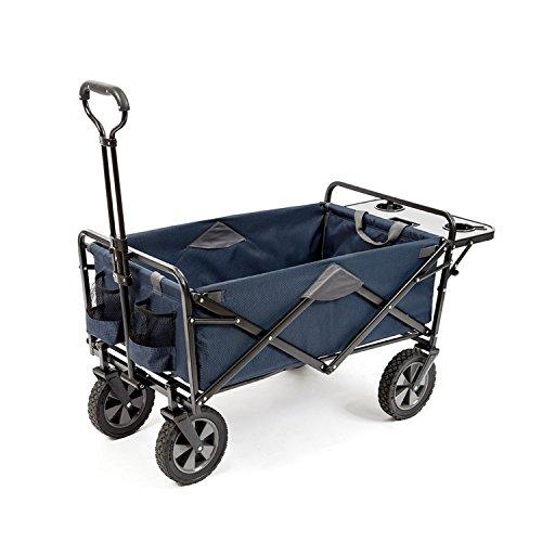 MAC Sports Folding Wagon with Folding Table, Blue