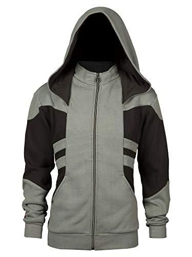 Overwatch Overwatch Kapuzen Jacke Reaper Wraith Phantom Logo schwarz grau - M