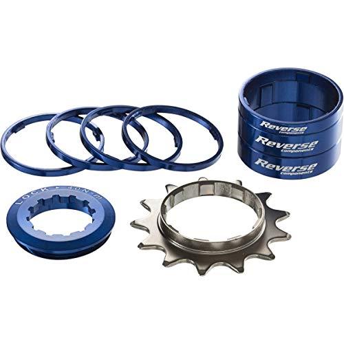 Kit Single Speed avec Pignon 13 Dents REVERSE COMPONENTS Couleur Bleu Foncé