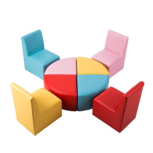 Kids Modular Flexible Seating Set Preschool Daycares Chairs Colorful Stools for Toddlers Soft Foam Play 8 PCs Set for Classroom