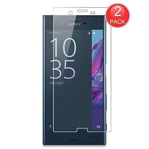 Preisvergleich Produktbild X-Dision [2-Pack Displayschutzfolie Kompatibel mit Sony Xperia XZ,  Schutzhülle aus 9H-Hartglas,  2.5D Premium-Schutzfolie,  [Blasenfreie Installation] [Durchsichtig Kratzfest]