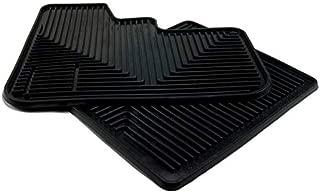 Semi Truck Black Rubber Slush Floor Mats - Universally fits many Kenworth Peterbilt Freightliner Mack - All-Weather /Terrain High Ridged 2 Piece Cab Fronts