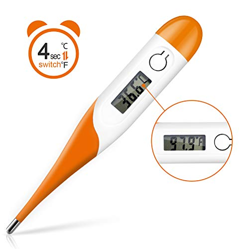 Discover Bargain Digital Medical Thermometer, Adoric Rectal and Oral Thermometer for Adults and Babi...