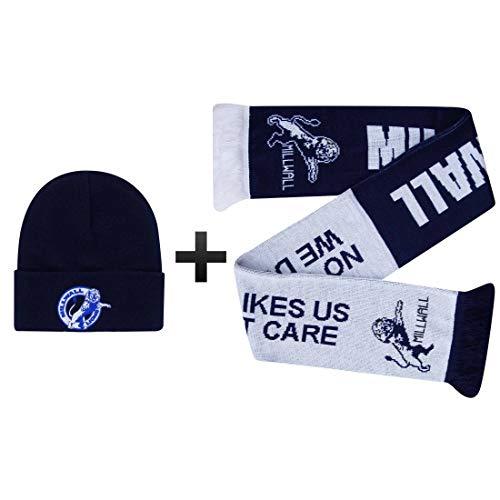 Millwall Lions Winter Warmers Bronx Mütze und Schal Geschenkset (100 % Acryl)