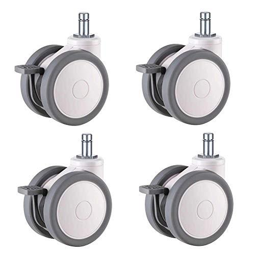 Barm Ruedas X4, ruedas giratorias de 75 mm, ruedas de instrumentos médicos silenciosos, con frenos, 3 estilos, perno M12