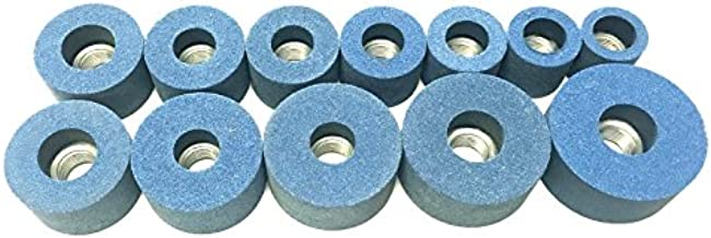 Beam Equipment & Supplies 12 Piece General Purpose 80 Grit Valve Seat Grinder Stone Set for Kwik Way 1 1/8-2 1/2 Made in the USA
