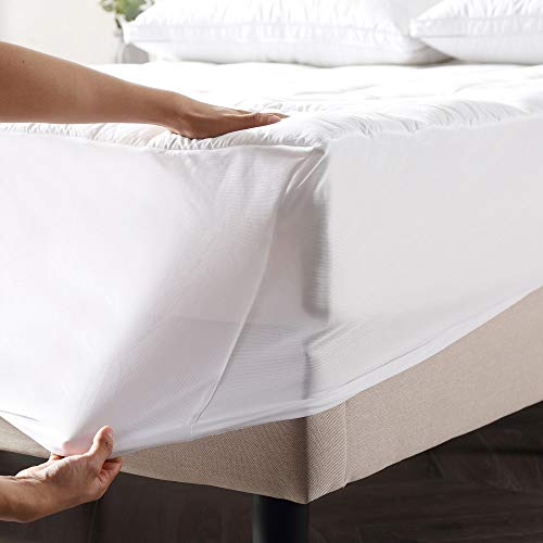 Classic Brands Defend-A-Bed Ultimate Alternative Down Waterproof Baffle Box Quilted Mattress Protector, King
