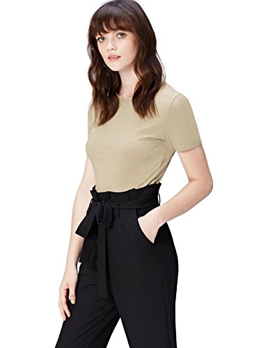find. Camiseta para Mujer, Beige (Khaki), 38 (Talle Fabricante: Small)