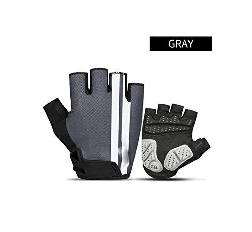 Guantes de ciclismo unisex con medio dedo para verano, transpirables, antideslizantes, guantes...