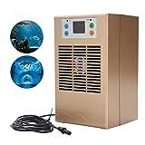 Refroidisseur d'eau d'aquarium 70/100W pour aquarium, machine de refroidissement d'aquarium numérique LCD avec kit de pompe Refroidisseur réservoir pour dortoir maison Réservoir d'eau fraîche/salée