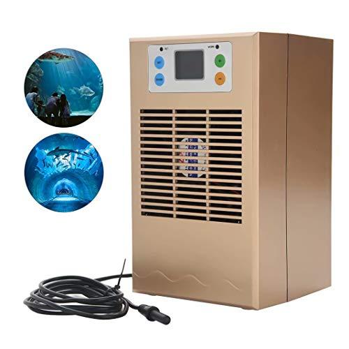 HANMIAO 70W / 100W Aquarium Wasserkühler Kühler für Aquarium, LCD Digital Aquarium Kühlmaschine mit Pump Kit Tankkühler für Wohnheim Frisch Salzwassertank Pflanzentank Zucht