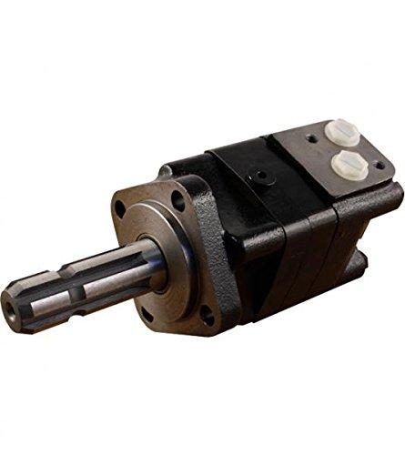 Hydraulikmotor CPMS_SL, Schluckvolumen wählbar von 80 cm3/U – 475 cm3/U, Anschlüsse: G 1/2'', Welle: Ø 34,75 mm P.T.O. DIN 9611 Form 1, Modell Axialverteilerventil, 4-Loch SAE Flansch Größe 400 ccm