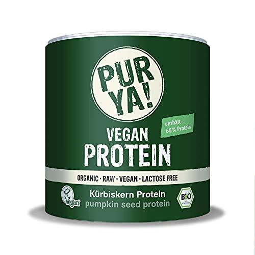 PURYA! BIO KÜRBISKERN Protein-Pulver, für Smoothies, Shakes, Salate oder Müslis, veganes Protein für Muskelaufbau und Fitness, vegan und laktosefrei, 250g
