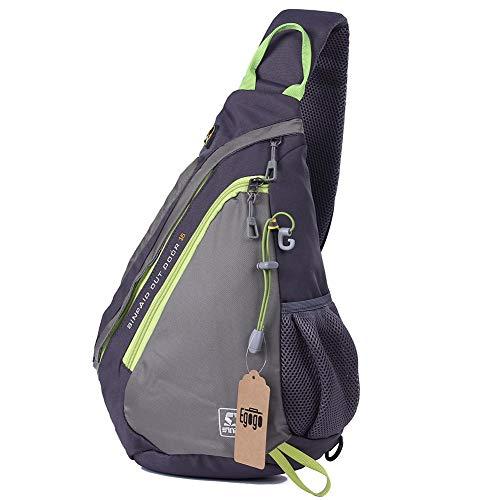 EGOGO Multifunktions Sling Pack Bag Rucksack Cross Body Umhängetasche Schultertasche Fahrradrucksäck (Grau)