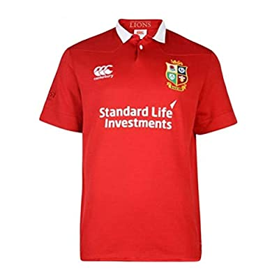 British & Irish Lions Men's VapoDri Matchday Classic Short Sleeve Jersey - Tango Red, Small by Canterbury
