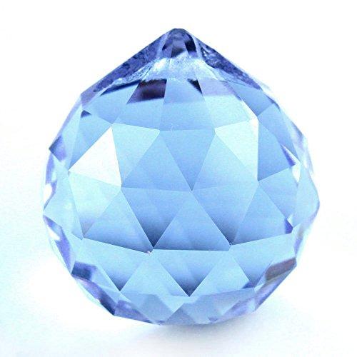 SODIAL (R) 30 mm de cristal de epoca azul Feng Shui bola