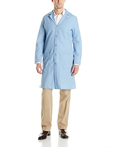 Red Kap Men's Exterior Pocket Original Lab Coat, Light Blue, 48