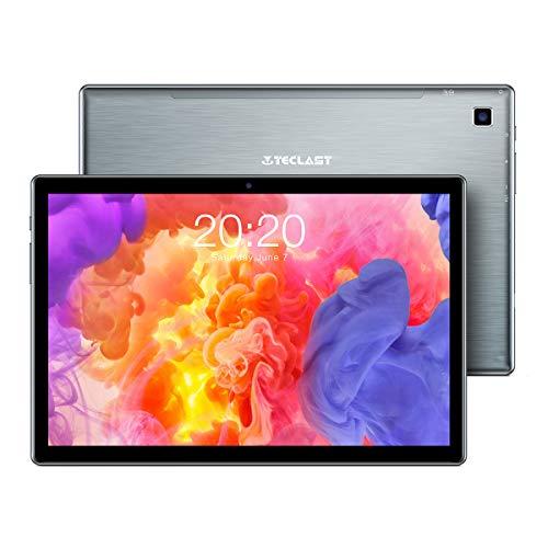 TECLAST Tablet 10 inch 4GB RAM 64GB ROM, 1.6GHz Octa-Core Android Tablet, 1920x1200 FHD IPS, 2.4G+5G WiFi 10 inch Tablet, 2MP+5MP Camera, Bluetooth 5.0 Type-C GPS TF Expansion
