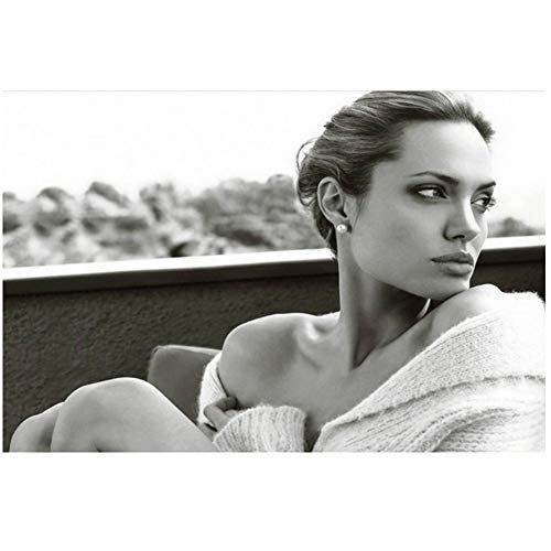 Póster New Angelina Jolie Hot Movie Actress Model Star Light Canvas Wall-50x90cm Sin marco