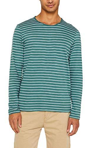 edc by Esprit 089cc2k010 Camisa Manga Larga, Verde (Dusty Green 335), Small para Hombre