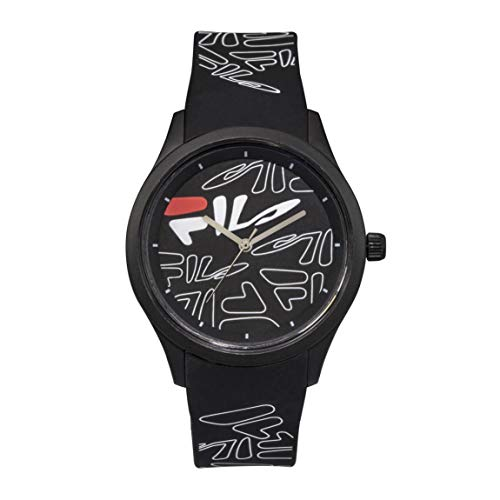 OROLOGIO FILA Analog Watch - Watches for Women - Womens Watches - Black Mens Watch - Cool Watches for Men - Mens Wrist Watch - Running Watch - Unisex Watch - Fila Watches for Men - Black Fila Watch