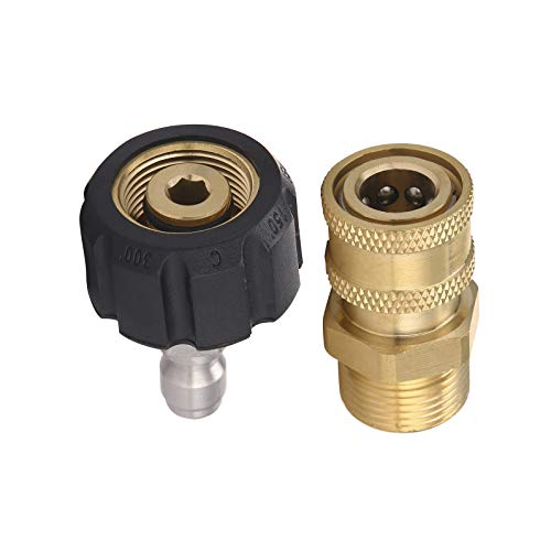 RIDGE WASHER Pressure Washer Adapter Set, Gun to Wand, M22 to 1/4'' Quick Connect