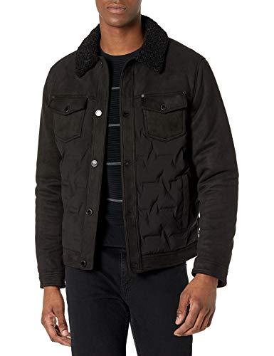 Karl Lagerfeld Paris Herren Trucker Jacket Gesteppte Jacke, schwarz, Mittel