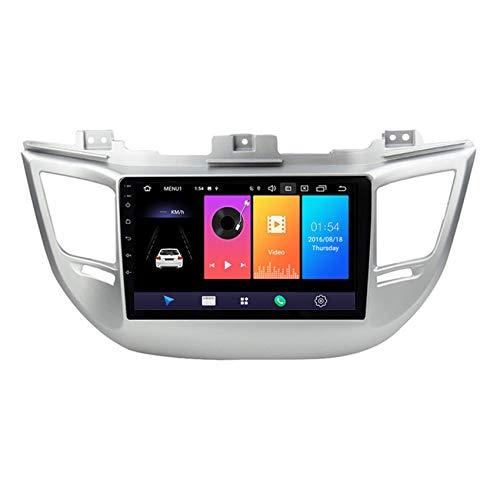 9 Zoll Autoradio-Empfänger für Hyundai Tucson 2015-2018 Bluetooth Autoradio MP5-Player, unterstützt FM / MP3 / USB/Subwoofer, Mirror Link,8 cores,4G+WiFi:2+32G