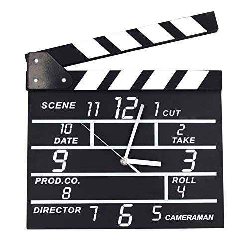 DENG&JQ Pendule Murale,Carré Horloge électronique Film Directeur Horloge Clap Horloge électronique Fashion Chambre Accueil Clair pour Lire-A 3pouce