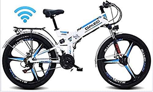 RDJM Bciclette Elettriche 24' pieghevole Ebike, 300W elettrica Mountain bike for adulti Pedale 48V 10AH agli ioni di litio Assist E-MTB con 90KM durata della batteria, il GPS di posizionamento, Olio f