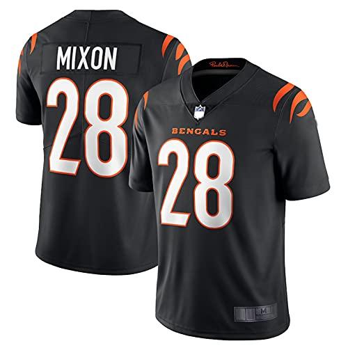 QWRE Herren Trikots T-Shirts Joe Mixon #28 Uniform Cincinnati Rugby Jersey Bengals Vapor Limited Jersey - Schwarz