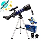 Moutec Simple Telescope for Kids and Beginners, 50mm Portable Travel Telescope, STEM Scientific