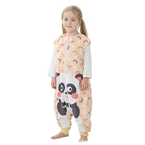MICHLEY baby schlafsack mit Füßen, mädchen und Junge Schlafanzug Vierjahreszeiten, Sommerschlafsack mit Beinen, Panda 3-5 Jahre