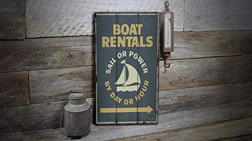 Not Branded yamuuuu Holz Boot Mieten Schild Segelboote Dekor Boot Lifestyle Boot Liebhaber Dekor Holz Verkauf Dekor