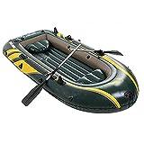 KUANDARMX Bote Inflable Barco De Kayak Inflable con Remos De Aluminio, Dos Personas, Asiento De Pesca En Kayak para Lagos, Pesca Y Costa, Rafting Al Aire Libre