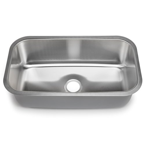 Hahn Chef Series SS012 31.5-Inch Undermount Single Bowl, X-Large