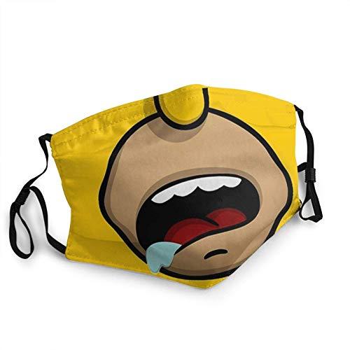 Mouth Sleeve,Homer Simpson Mundschützer, Sicherheits-Sanitärschal Für Das Sportradfahren,20x15cm