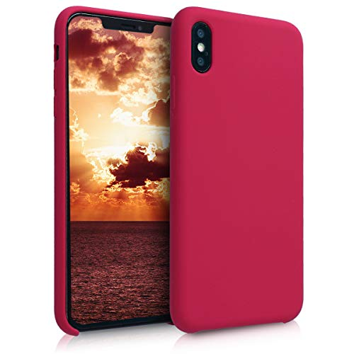 kwmobile Hülle kompatibel mit Apple iPhone XS Max - Handyhülle gummiert - Handy Hülle in Fuchsia Rot