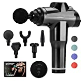 SHIKE Wired Massage Gun - No Battery, Professional Deep Tissue Percussion Massager, Quiet Handheld Electric Body Muscle Massager with 6 Vibration Speeds for Sore Muscle and Stiffness (Black)