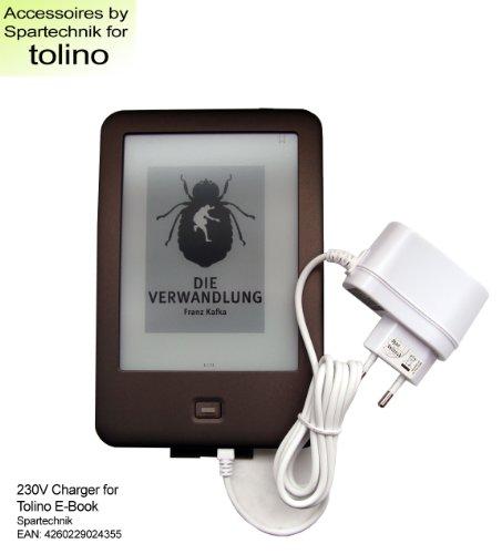 Spartechnik Netzteil für Tolino Shine Tolino Shine 2 HD & Tolino Vision Vision 2 Vision 3 HD 4 HD von Bertelsmann Weltbild Thalia Telekom - 230V Ladegerät Steckerlader Steckerlader 110-240 Volt weiss