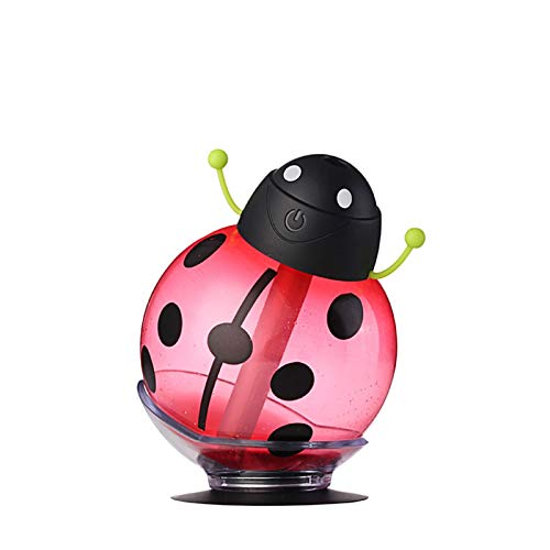SKVVIDY Humidifier New USB Mini Beetle Humidifier Light Vehicle Air Cleaner 360 Degree Spray Cartoon For Home And Car Humidifiers For Home (Color : Red)