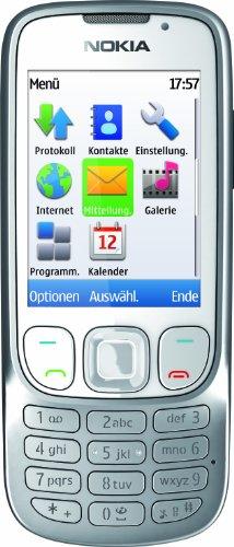Nokia 6303i Classic Handy (Ohne Branding, 5,6 cm (2,2 Zoll) Bildschirm, 3,2 Megapixel Kamera) weiß