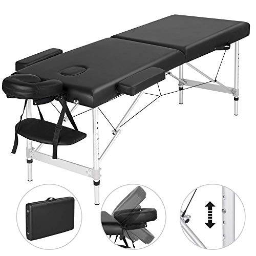 Massage Bed Massage Tafel Draagbare Spa Bed Hoog Verstelbare Massage Tafel 2 Opklapbare Spa Bed Gezichtshouderij Salon Bed
