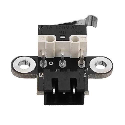 LONGWDS Partes de la Impresora Cómo controlar la Potencia mecánica de Tipo Horizontal Interruptor Final de Carrera con 3 Piezas de 1 m de Cable for Impresora 3D Reprap Ramps1.4